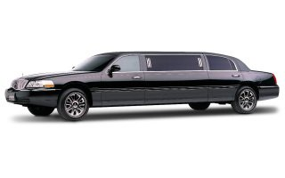 black stretch limousine 6 passenger
